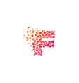 F particle letter logo icon design