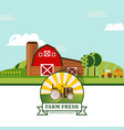 farm product label flat vector image vector image