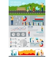 Fatherhood Infographic With Happy Family Picture vector image vector image