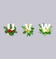 floral alphabet paper cut u vector image vector image