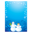 frame snowman vector image vector image