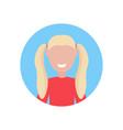 happy blonde girl face avatar little child female vector image vector image