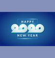 happy new year 2020 text design lettering vector image vector image