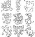 heraldic monsters vol i vector image vector image