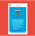 hook mobile vertical banner design design vector image