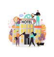 hotel services concept for web banner vector image
