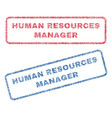 human resources manager textile stamps vector image vector image