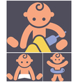 Kids activities icons set vector image vector image