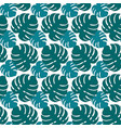 large leaves of monstera seamless tropical pattern vector image vector image