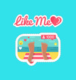 like me social network and streams stickers vector image vector image