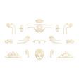 line feminine decoration design elements vector image