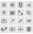 line navigation icon set vector image vector image