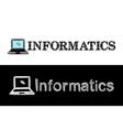 logo for informatics school subject vector image vector image