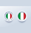 made in italy round label badge button sticker vector image vector image
