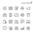 marketing line icons editable stroke vector image