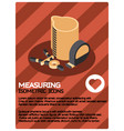 measuring color isometric poster vector image vector image