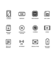 Mobile Device Components Icon Set vector image vector image