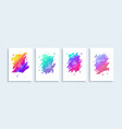 modern abstract backgrounds posters vector image vector image