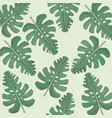 monstera leaves jungle seamless pattern vector image vector image