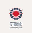 mosaic ethnic emblem vector image vector image