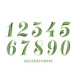 numbers font classical geometric design of vector image vector image