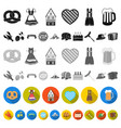 october festival in munich flat icons in set vector image vector image