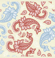 paisley pattern background golden yellow and red vector image vector image