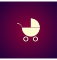 Pram icon Flat design style vector image vector image