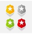 realistic design element police badge vector image