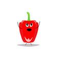 red bell pepper cartoon characterflat
