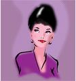 Retro elegant woman portrait in pop art style vector image vector image