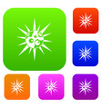 round cell virus set collection vector image vector image