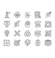 set creative line icons checklist paper plane vector image
