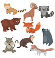 Set of different animals of north america vector image