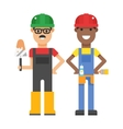 Set of professional engineering workers people vector image vector image
