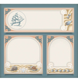 Set of sea vintage vacation frame banners labels vector image vector image