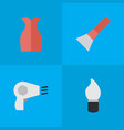 set of simple beauty icons vector image vector image