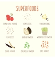 Set of superfoods part 1 vector image vector image