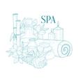 Spa Center Symbols Hand Drawn Realistic Sketch vector image vector image