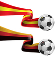 spain and germany flag with soccer ball vector image