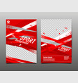 sport layout template design abstract vector image vector image