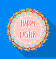 sticker happy easter easter single icon in flat vector image vector image