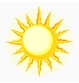 Sun symbol isolated on white vector image vector image