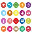 Technology gadget screen flat icons on white vector image vector image