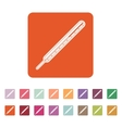 The medical thermometer icon vector image vector image