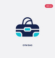 two color gym bag icon from gym and fitness vector image vector image