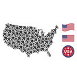 united states map mosaic of arrow up right vector image