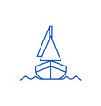 yacht front veiw line icon concept yacht front vector image vector image
