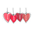 love happy valentines day card vector image