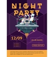 Party poster for night club Dj in an astronaut vector image